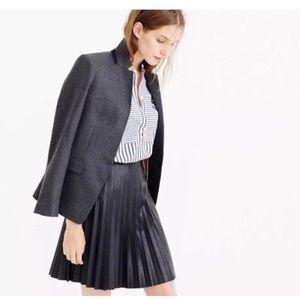 J. Crew Faux Leather Mini Skirt